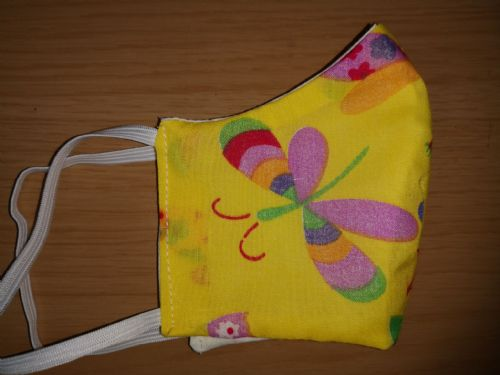 Handmade Breathable Eco Friendly Cotton Face Mask  butterfly Adjustable Ribbon Ties Or Elastic